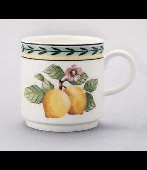 Mug, 9-1/4 oz., stackable, premium porcelain, French Garden-Dampierre
