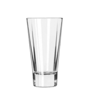 Beverage Glass, 12 oz., flare, square shape, heavy sham, DuraTuff®, Quadra V