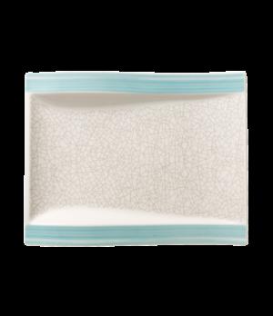 "Salad Plate, 10-1/4"" x 7-2/3"", rectangular, flat, large, premium porcelain, Amar"