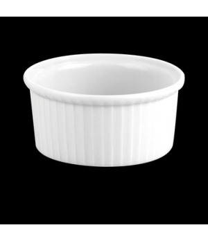 "Ramekin, Plissé N°2, 4 oz., 3"" dia., round, 260409BL, porcelain, Pillivuyt, Gene"