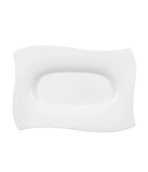 "Platter, 12-5/8"" x 8-5/8"", rectangular, premium bone porcelain, New Wave Premium"
