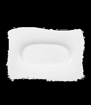 """Platter, 12-5/8"""" x 8-5/8"""", rectangular, premium bone porcelain, New Wave Premium"""