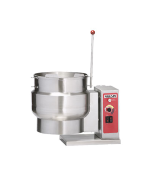 Tilting Kettle, Electric, 6-gallon true working capacity, 2/3 jacketed counterto