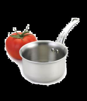"Mini Sauce Pan, 9-1/2 oz., 3-1/2"" dia. x 2-1/4""H, O.A.L. 7-1/2"", riveted handle,"