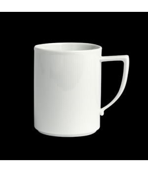 "Mug, 10-1/4 oz., 4-3/8""W x 4""H, stackable, porcelain, Sonata, Rene Ozorio (USA s"