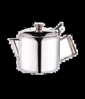 Teapot, 12 oz., economy, stainless steel