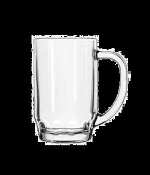 """Thumbprint Stein, 19-1/2 oz., glass, (H 5-5/8""""; T 3-3/8""""; B 2-7/8""""; D 6-7/8"""")"""