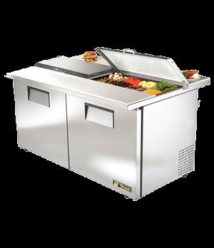 """ADA Compliant Dual Side Sandwich/Salad Unit, (16) 1/6 size (4""""D) poly pans, (2)"""