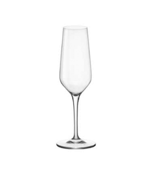 Flute Glass, 7-3/4 oz., Bormioli, Electra (USA stock item) (minimum = case quant