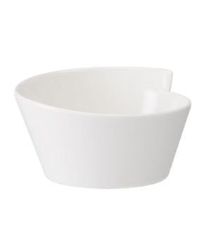 Salad Bowl, 105 oz., round, free form, dishwasher & microwave safe, white, premi
