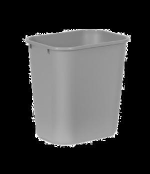 """Waste Basket, 28-1/8 qt., 14-3/8""""W x 10-1/4""""D x 15-1/8""""H, medium, soft, rolled r"""