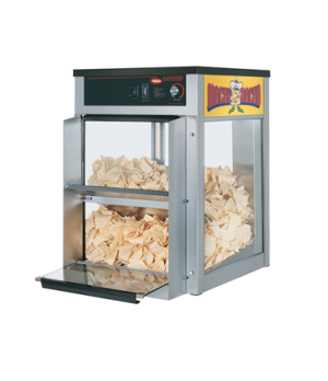 Macho Nacho™ Chip Warmer, front loading & dispensing door, main deck shelf only,