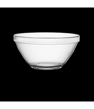 "Bowl, 8 oz., 4-1/2"" x 2"", round, stackable, tempered, glass, clear, Bormioli, Po"