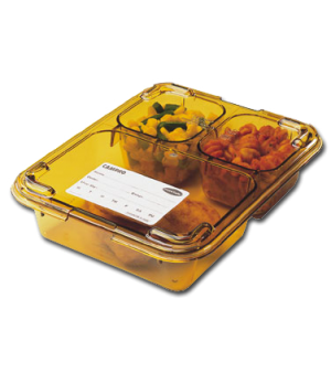 Lid for 853FH, heat resistant plastic, amber, NSF