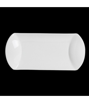 "Platter, 12-1/2"" x 6-1/2"", oblong, rolled edge, porcelain, Crucial Detail (price"