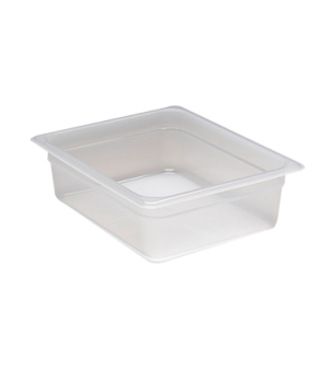 "Food Pan, 1/2 size, 4"" deep, translucent polypropylene, NSF"