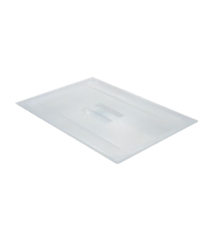 Food Pan Cover, 1/2 size, with handle, translucent polypropylene, NSF
