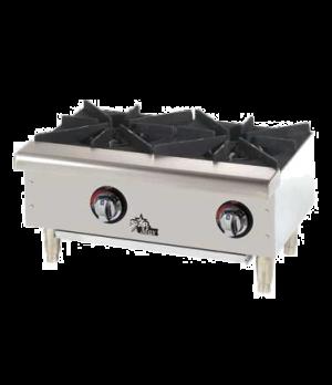 "Star-Max® Hotplate, countertop, gas, 24"" wide, (2) 25,000 BTU burners, manual co"