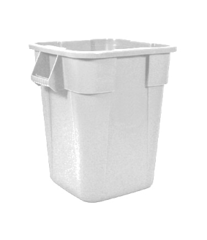 "Square BRUTE® Container, without lid, 40 gallon, 23-1/2""D x 28-3/4""H, nesting ha"