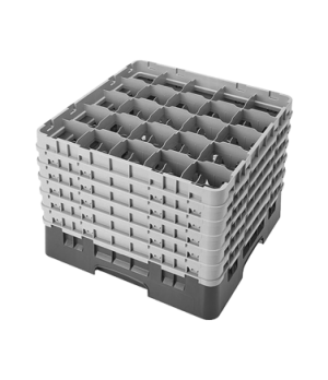 Camrack® Glass Rack, with 6 extenders, full size, low profile, 25 compartments,