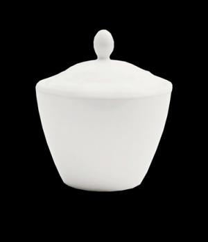 Madison Sugar Pot Lid, vitrified ceramic, Performance, Simplicity, White (UK sto