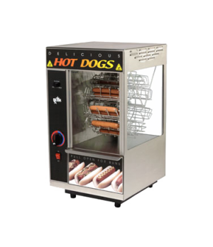 Broil-O-Dog Hot Dog Broiler, cradle type rotisserie, cap. 18 dogs & 12 buns, ove