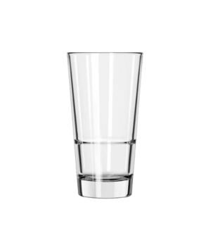 "Pub Glass, 16-1/2 oz., stackable, DuraTuff®, ENDEAVOR™ (H 6-1/2""; T 3-1/2""; B 2-"