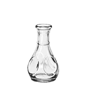 "Pinch Decanter/Bud Vase, 3-1/2"" tall, 1-1/2 oz., glass, (H 3-1/2""; T 1-1/8""; B 1"