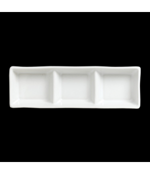 "Divided Condiment Tray, 1 oz per well, 7-1/2"" x 2-1/2"", 3-compartment, rectangle"