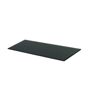 """Glass Shelf, 27.5""""L x 16.5""""W (42 x 70 cm), rectangular, tempered, smoky, Urban-S"""