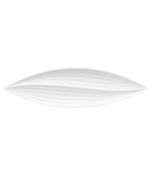 "Ethereal Platter, 11.8"", leaf shape, dishwasher safe, bone china, white (priced"