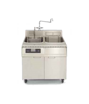 Pasta Cooker, Electric, single tank cooker with separate rinse tank, drainer/hol
