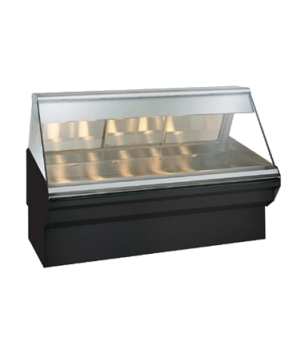 "Halo Heat® Heated Display Case System, 72"" L, full-service, lift-up flat glass f"