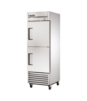 Freezer, Reach-in, -10° F, one-section, (2) stainless steel half doors, stainles