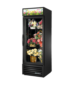 Floral Merchandiser, one-section, True standard look version, (2) shelves, black
