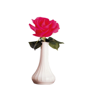 "Bud Vase, 6"" tall, narrow neck, lightweight, dishwasher safe, white, NSF"