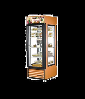 Specialty Merchandiser, pass-thru, one-section, (4) shelves, copper aluminum fin