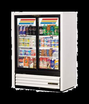 Convenience Store Cooler, Pass-Thru, two-section, (3) wire shelves, vinyl exteri