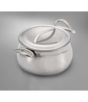 Sauce Pan, 3 quart, with double-wall stainless steel lid, corrosion-resistant, d