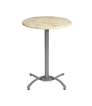 "Table Base, bar height, for 24"" to 30"" molded melamine table tops, (2) adjustabl"