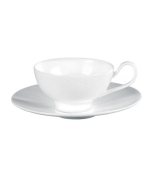 "Ethereal Tea Saucer, 7-1/4"" dia., round, dishwasher safe, bone china, white"