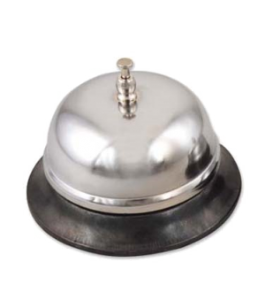 "Call Bell, 4"" dia., metal base, nickel-plated"