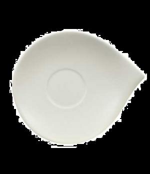 """Saucer, 7-1/8"""" x 5-7/8"""", (cup OCR 1300), premium porcelain, Flow"""