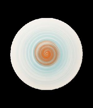"""Plate, 12-5/8"""" dia., round, flat, coupe, premium porcelain, Amarah Aquamarine"""