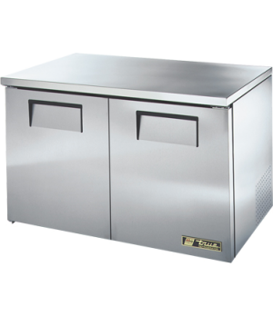 Low Profile Undercounter Refrigerator, 33-38° F, (4) shelves, stainless steel to