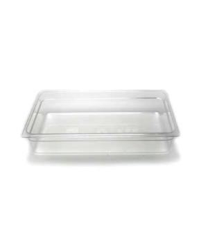 "Camwear® Food Pan, plastic, full size, 4"" deep, polycarbonate, clear, NSF"
