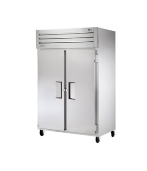 Refrigerator, Reach-in, two-section, stainless steel front, aluminum sides, (2)
