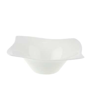 "Individual Bowl, 7-1/8"" x 7-1/8"", 10-1/4 oz., premium bone porcelain, New Wave P"