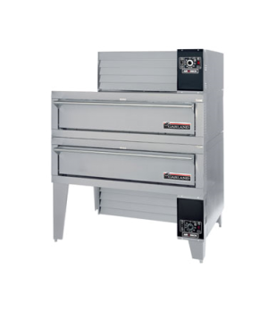 "Air-Deck Pizza Oven, gas, double deck, 56"" W x 36"" D x 7"" H deck surface, stainl"