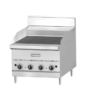 "G Series Charbroiler, countertop, gas, 18"" W, ceramic briquette, stainless steel"